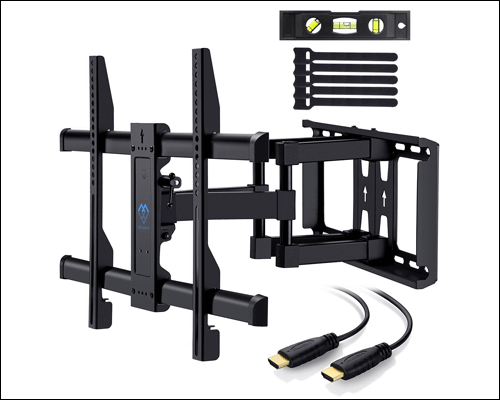 Perlesmith Full Motion Tv Wall Mount Bracket For 37 Inch To 70 Inch For Lcdledoled